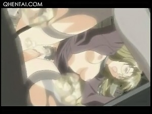 Hentai babe in stockings getting cummed inside her wet pussy