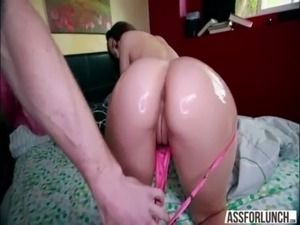 Big ass chick Dani Daniels gets her pussy rammed in doggystyle by her hot guy...