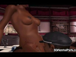 Here is a big tit 3D ebony babe who is getting fucked in her tight pussy by a...