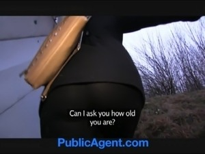 PublicAgent Outdoor fucking with sexy blonde in glasses free