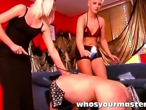 punished and humiliated by two girls