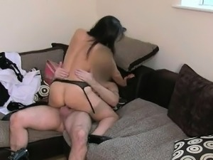 British milf in stockings gets fucked on casting