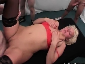 Very hot and nasty blonde mature slut with some hot red