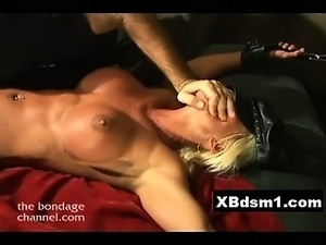 Wild Beauty Bondage Chick Screwed Hard
