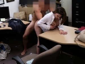 Sexy business lady screwed to earn money for a ticket