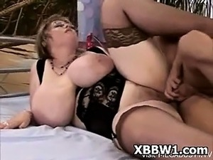 Voluptuous Fat Ass BBW Pegged