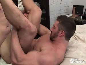 Marko rams bulky muscled bottom Christian's ass mercilessly