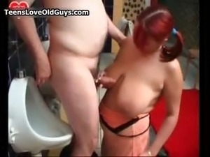 Big tits redhead teen loves sucking part4