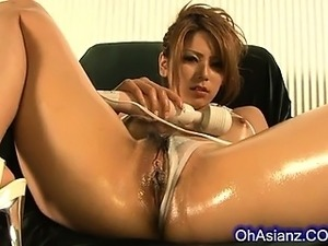 Soft oiled hairy pussy