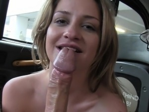 Huge tits British blonde anal banged in fake taxi
