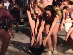 College rodeo fun ends up in sweet orgy inside the dorm