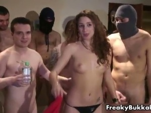 Filthy Spanish whore gets groped