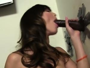 Clit rubbing cock sucker
