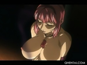 Hentai sex ritual with blonde girl with cock fucking pussy
