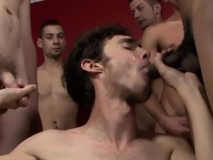Twinks face spunk bombed
