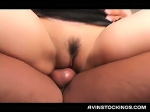 Horny Japanese MILF playing naughty mistress humps starved dick