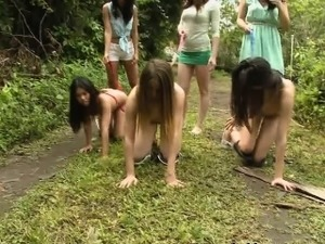 College Amateur Hotties Outdoors During Sorority Hazing
