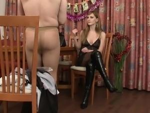 Rude Mistress Gives Birthday Pressent