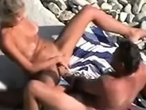 Mature horny Couple voyeured on Nude Beach