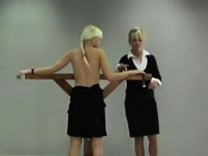 Schoolgirl\'s getting spanked