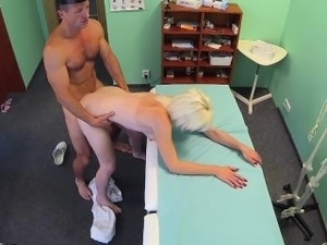 FakeHospital Sexy blonde milf wants doctors cum in her