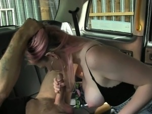 Busty passenger pounded by horny driver for a free ride