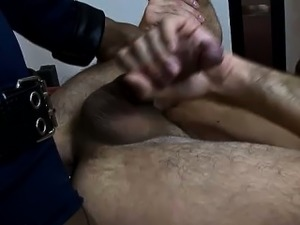Shemale police officer bangs a criminal