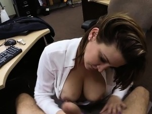 Sexy busty wife pawns twat in exchange for a plane ticket