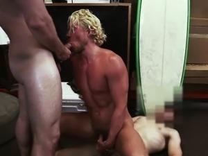 Sporty blonde gets hard