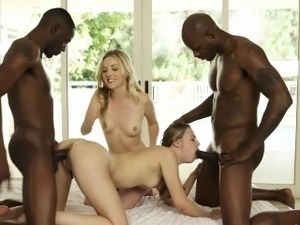 BLACKED Karla Kush and Jillian Jasons first foursome