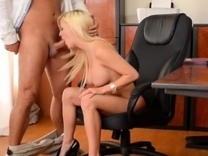Hot secretary orgasm sex