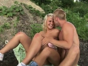 Riding a blonde