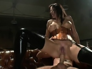 Sexy cowgirl college gang bang