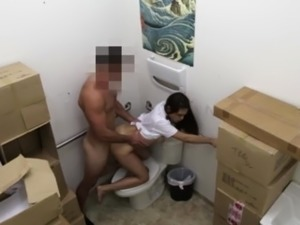 Hot Latina gets fucked hard by the owners big dick