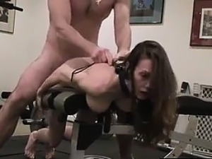 Training my slave in my workout room