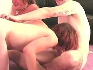 Blowjob by cute amateur in party game group sex