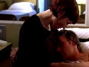 Actress breastfeeding patient in hospital