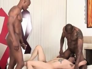 Brave white guy craving for black cocks