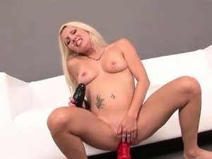 Cock Deprived Wife Fucks And Straddles Dildo