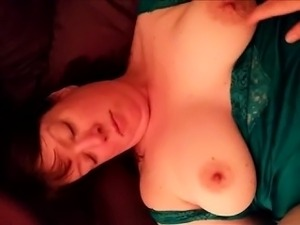 Chubby mature having sex and she enjoys it