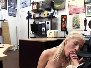 Cute blonde sloppy blowjob Stripper wants an upgrade!