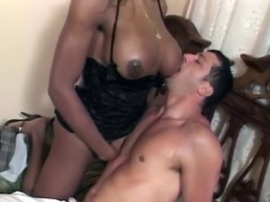 Man gets his ass rammed with tranny cock