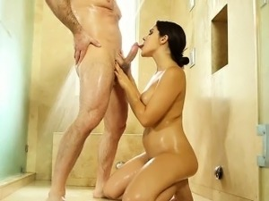 Busty masseuse gets fucked by her client after massage