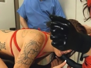 Submissive BDSM bang with anal whore
