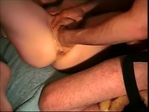 Fantastic hardcore pussy fisting while getting jerked off