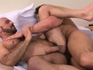 Ty quickly reaches into his jeans and pulls out his big cock