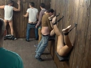 This nightclub gloryhole fun gorgeous
