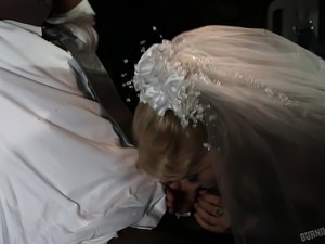 tattooed bride gets banged in car