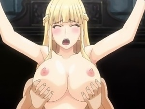 Blonde hentai babe chained and fucked rough