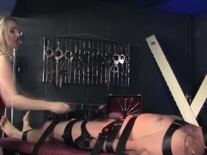 Leather prodomme whipping pathetic subject